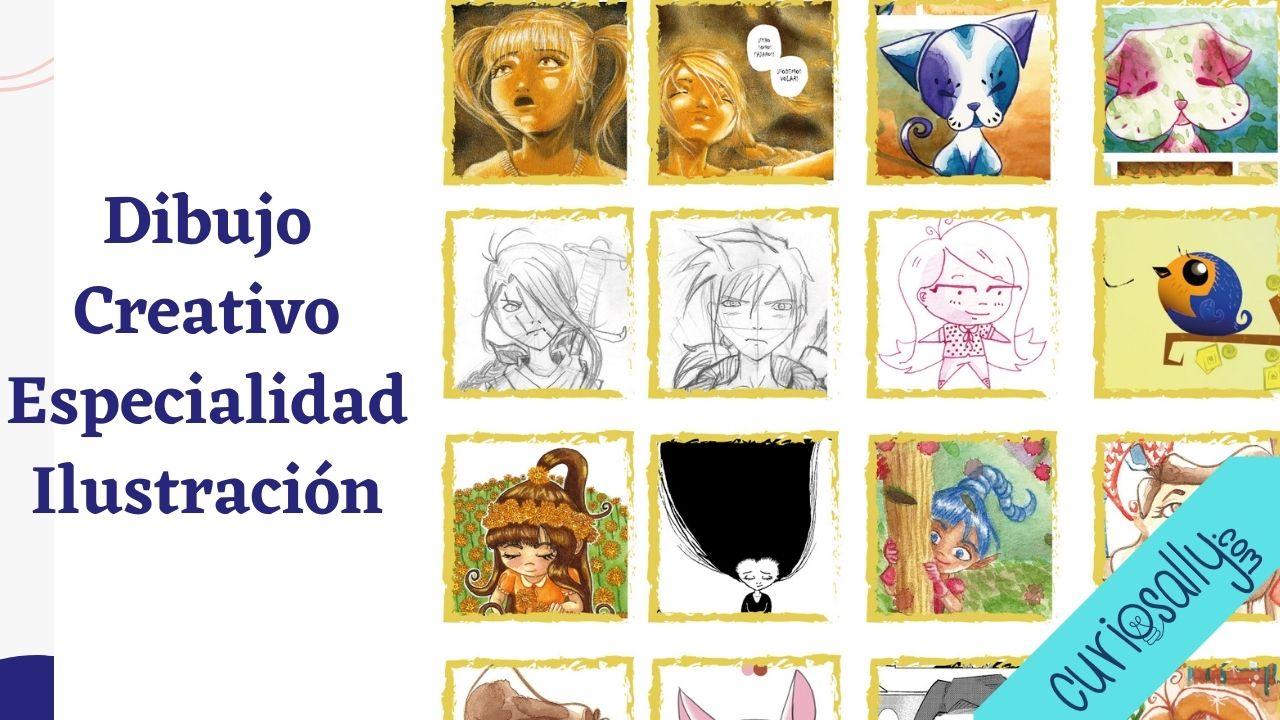 EXPLORA DIBUJO CREATIVO: Especialidad en Ilustración - Primeros pasos cómic, manga, novela gráfica.
